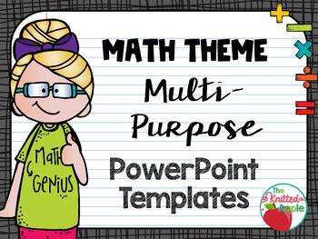 Math PowerPoint Templates (Multi-Purpose) by The Knitted Apple TpT