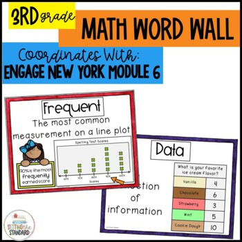 Math Word Wall Posters for Graphing Grade 3 Module 6 Engage New