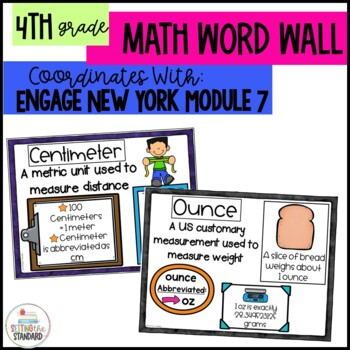 Math Vocabulary Posters 4th Grade- Engage New by Setting the