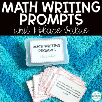Math Writing Prompts Worksheets  Teaching Resources TpT