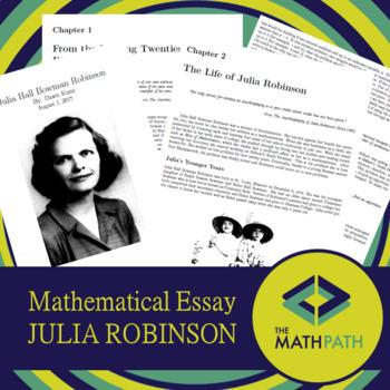 Mathematical Essays - Julia Robinson by The Math Path TpT