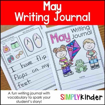 May Writing Journals, Writing Journals, Monthly Writing Journals, May