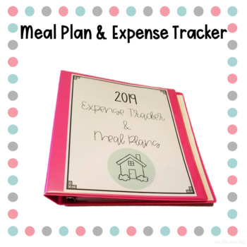 Meal Plan and Expense Tracker Binder by Eat Pray Travel Teach TpT