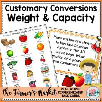 Customary Conversions Measurement Task Cards (Capacity and Weight