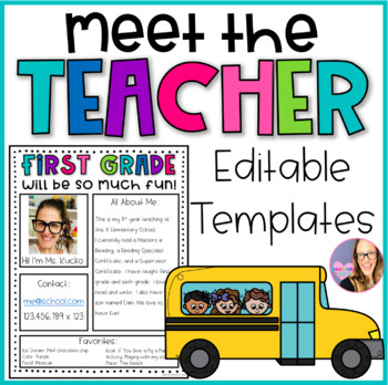 Meet the Teacher Editable Newsletter Templates by Elementary at HEART