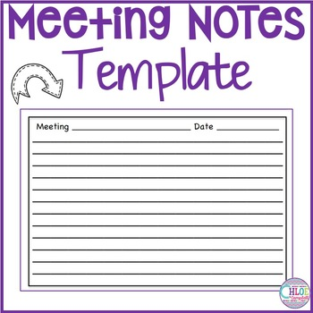 Meeting Notes Template by Chloe Campbell Teachers Pay Teachers
