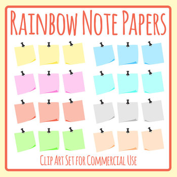 Memo Note Paper Similar to Post It Notes Blank Templates Clip Art