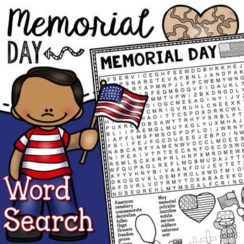 Memorial Day Word Search Activity by Tied 2 Teaching TpT