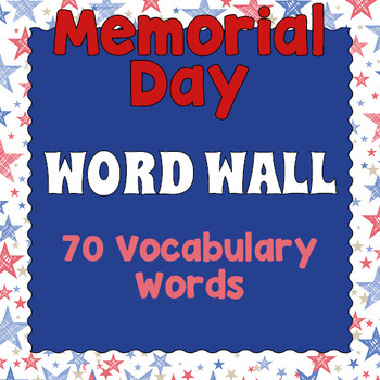 Memorial Day Word Wall by Drag Drop Learning Games TpT