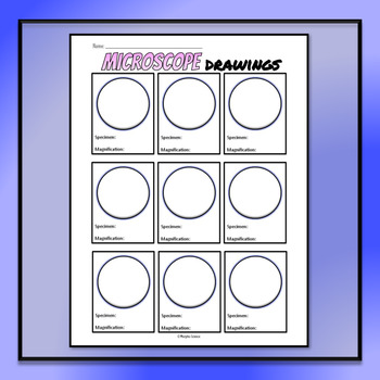 Microscope Drawing Circles - FREE TEMPLATE by Morpho Science TpT - circle template