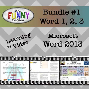 Microsoft Word 2013 Video Tutorial - Bundle #1 by Mrs Funny Business
