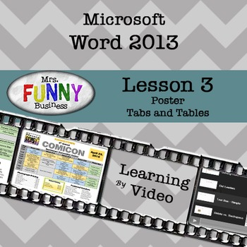 Microsoft Word 2013 Video Tutorial - Lesson 3 by Mrs Funny Business
