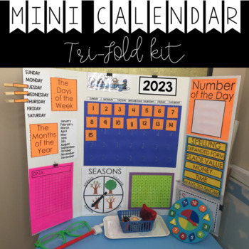 Mini Calendar Display (Trifold Presentation Board) by The Blue Brain