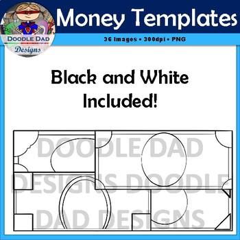 Money Template Clip Art (Customizable, Currency, Finance, Reward, Bucks)