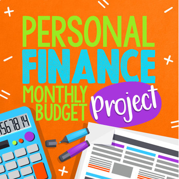 Personal Finance, Budgeting, and Planning Monthly Project TpT