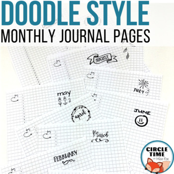 Monthly Bullet Journal Template by Circle Time with Miss Fox TpT