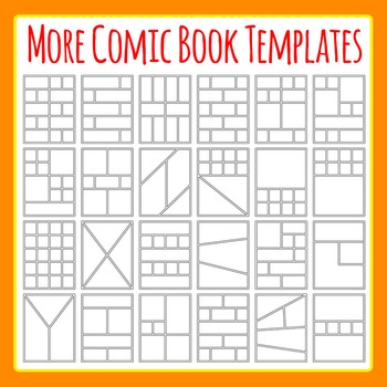 More Comic Book Templates / Graphic Novel Templates Clipart
