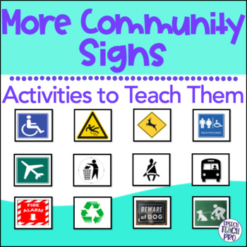 Community And Safety Signs Worksheets  Teaching Resources TpT