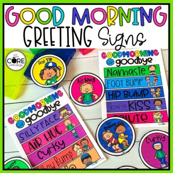 Editable Morning Greeting Signs to Build Classroom Community TpT