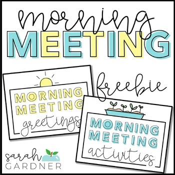 Morning Meeting Greetings  Activities by Sarah Gardner TpT - greeting