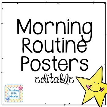 Editable Morning Routine (and others) FREEBIE! by Teaching Little