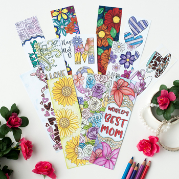 Printable Bookmarks To Color  Worksheets Teachers Pay Teachers