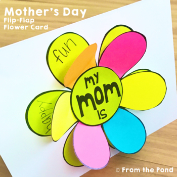 Mother\u0027s Day Card {A Flip the Flap Flower Card for Mom and Mum} TpT - mother s day cards