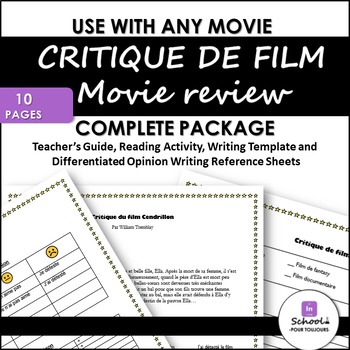 Movie Review Template Teaching Resources Teachers Pay Teachers