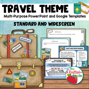 Travel Theme PowerPoint Templates By The Knitted Apple TpT