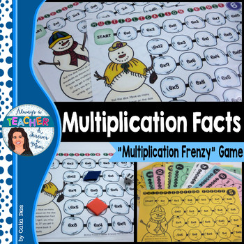 Recall Multiplication Facts Teaching Resources Teachers Pay Teachers - multiplication frenzy worksheet