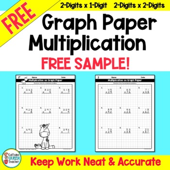 Multiplication on Graph Paper - FREE SAMPLE Pack by Caffeine Queen