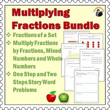 Multiplying Fractions Worksheets Bundle 4th Grade, 5th Grade by - multiplying fractions worksheet