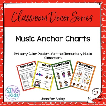 Music Anchor Charts for the MLT Inspired Classroom Primary Colors - anchor charts