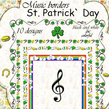 Music Borders St Patrick`s Day Theme by Anastasiya Multimedia Studio - 's day borders