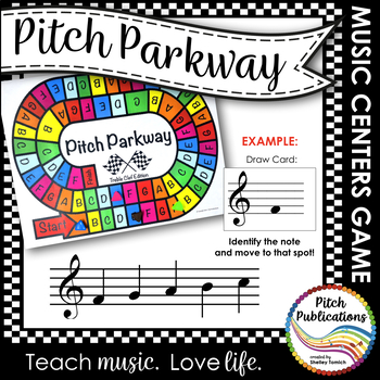 Music Centers Pitch Parkway - Treble Clef Customizable Game, Practice