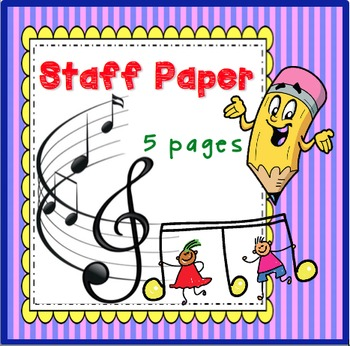 Music Staff Sheet Templates, Set of 5 by Janis Aston TpT - music staff paper template