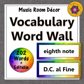 Music Word Wall {Music Room Décor} rainbow subtle by Linda McPherson