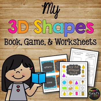 3D Shapes Book, Solid Shapes, Kindergarten, First,  Second Grade