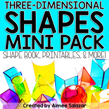 3D Shapes Book, Printables, and More by Primarily Speaking by Aimee