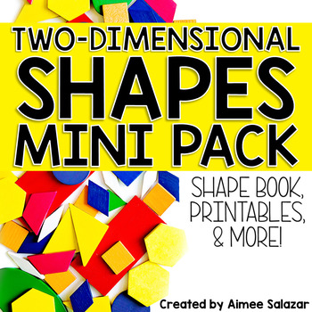 2D Shapes Book, Printables, and More by Primarily Speaking by Aimee