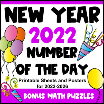 New Year Activity 2019 New Year Math Number of the Day New Years