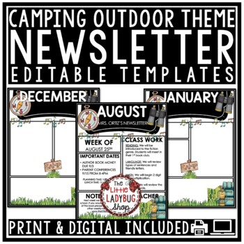 Weekly Newsletter Template Editable Teaching Resources Teachers - weekly newsletter template