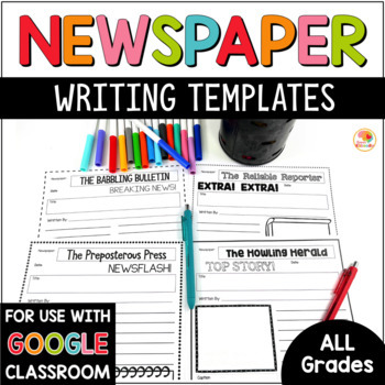 Newspaper Template Worksheets  Teaching Resources TpT