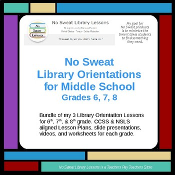 Library Lessons Middle School Teaching Resources Teachers Pay Teachers