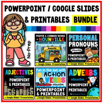 Nouns, Verbs, Adjectives, Adverbs, and Pronouns - ELA L31A BUNDLE
