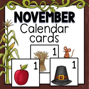 November Calendar Numbers by TxTeach22 Teachers Pay Teachers