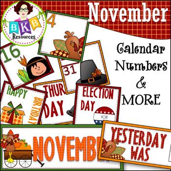 November Calendar Numbers ○ Morning Math ○ AB Patterns ○Days of