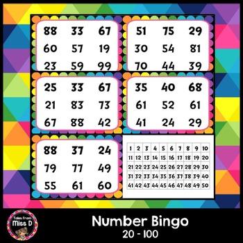 Number Bingo To 100 Teaching Resources Teachers Pay Teachers