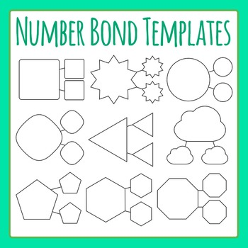 Number Bond Template Worksheets  Teaching Resources TpT
