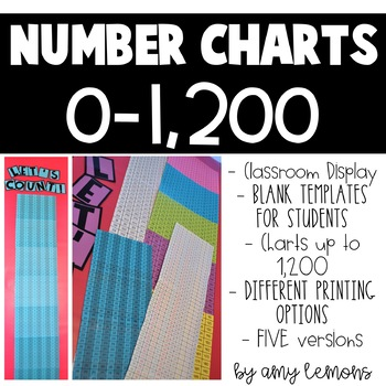 1-50 Number Chart Worksheets  Teaching Resources TpT
